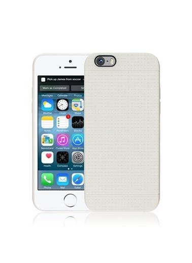 Microsonic Dot Style Silikon iPhone  6 4.7'' Kılıf Beyaz Renkli